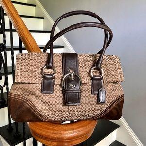 Coach satchel 👜 handbag Classic w/suede accents